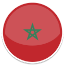 Morocco Flag (Round) (January 2017